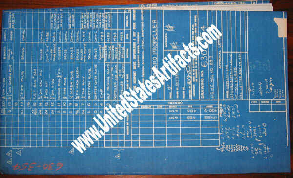 Artifacts from the s s united states ocean liner for sale on ebay this blueprint is for the starboard propeller a top secret item during the ships career and a stunning investment item malvernweather Choice Image